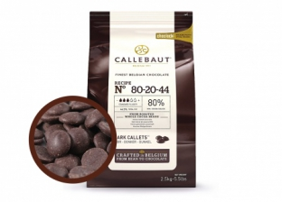Горький шоколад Callebaut 80,1% POWER 80 в дисках, пакет 2,5 кг